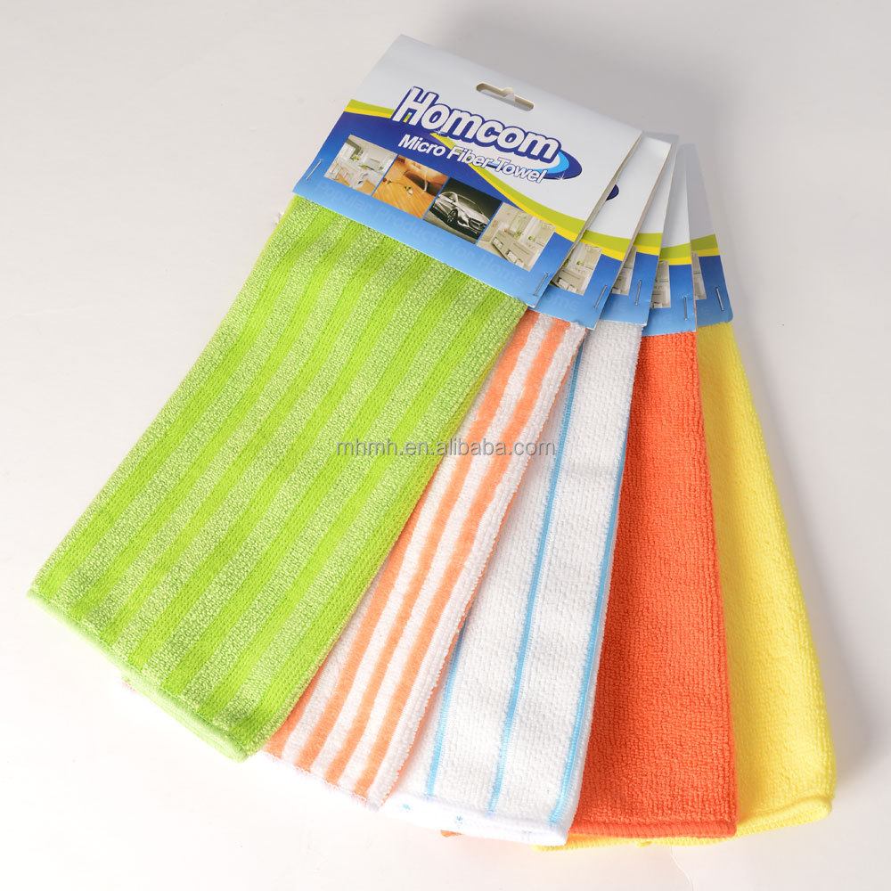 Custom Plain Printed All Purpose Household Kitchen Furnture Floor Car Microfiber Cleaning Cloth