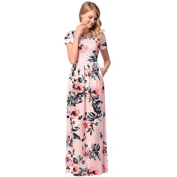 fashion clothes beach party dress african print designs short sleeve womens  maxi long dress aeba973dad