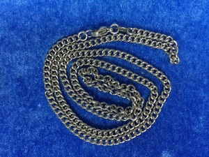 Well Polished Silver Stainless Steel Curb Chain neck chain with Lobster Ring