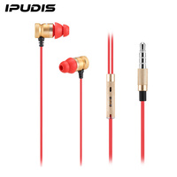Metal in-ear headset 3.5mm Headphones earphone For Apple iPhone Samsung Computer universal Volume Control With Mic