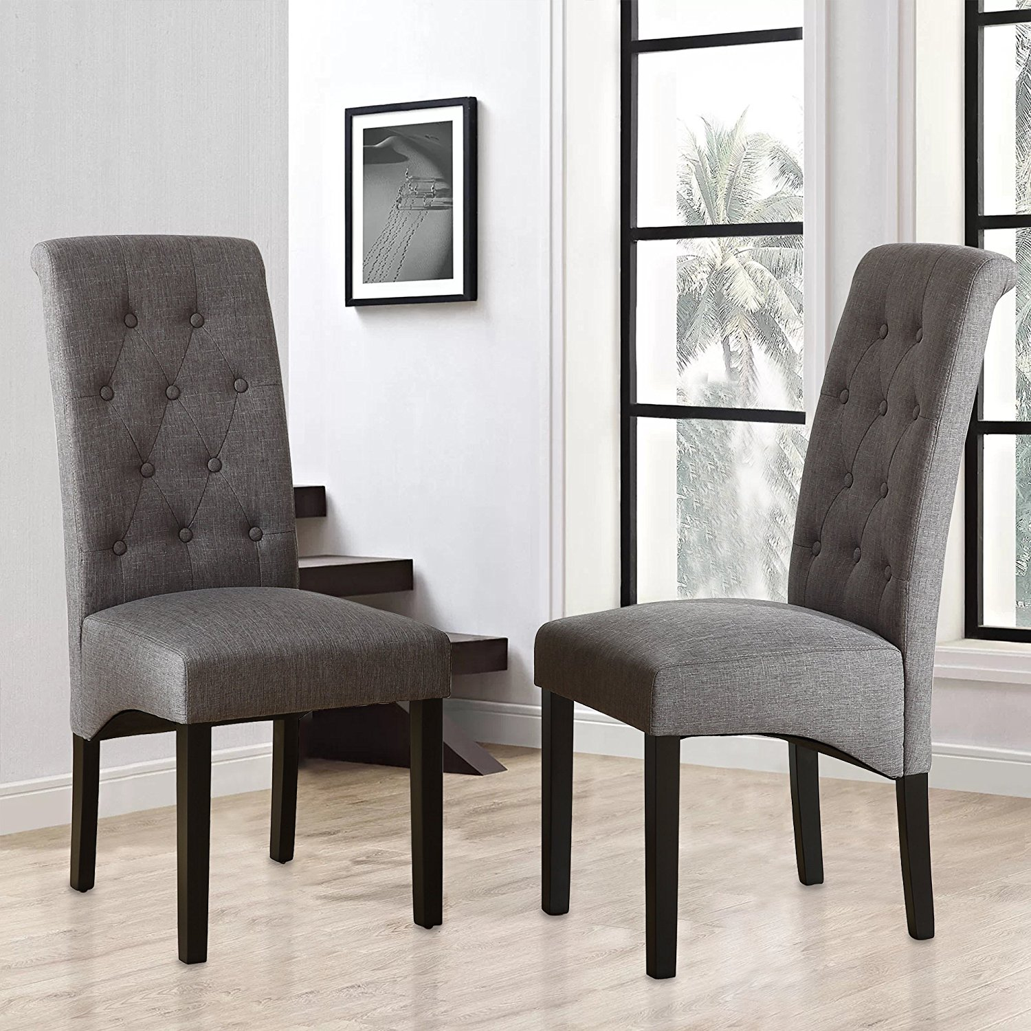 Cheap Grey Tufted Dining Chair Find Grey Tufted Dining