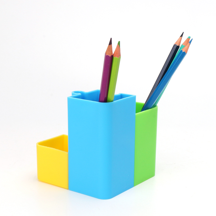 Wholesale square multi pen pencil holder