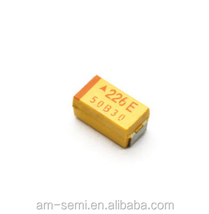 SMD 22UF 25V Chip tantalum capacitor C6032 price list of capacitor 1812