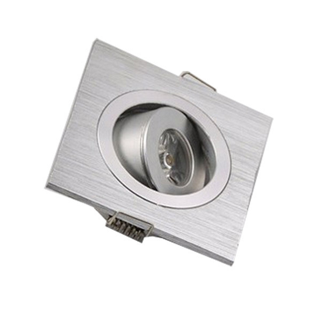 4pcs/lot Led downlight square lamps spot light cabinet led aluminum 1W 3W luminarias home decoration indoor use AC85-265V  Z40