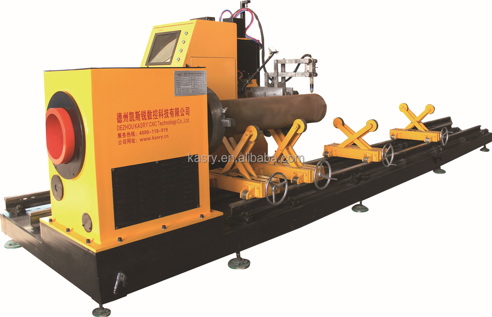 pipe cutting and bevelling machine