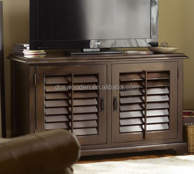 Solid Wood Small Media Console Cabinet Locking Storage Cabinets Led Tv Stand Product On Alibaba