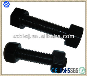Black colour stud Bolt