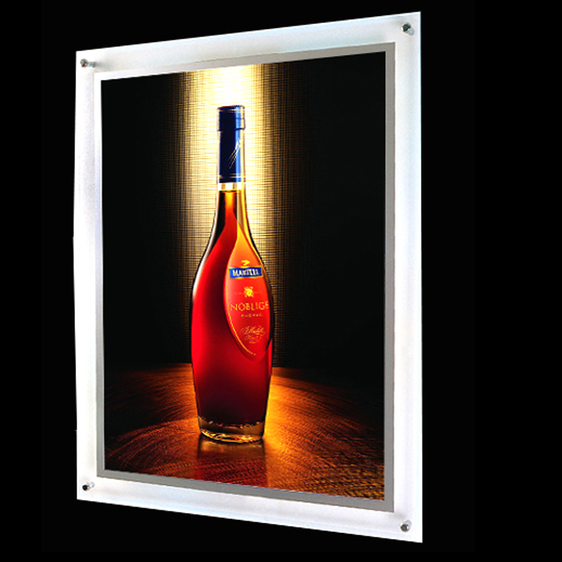 Led backlight frame for photo poster