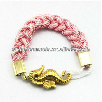 2013 New Product Turks Head Knot Rope Bracelets Hand Knotted