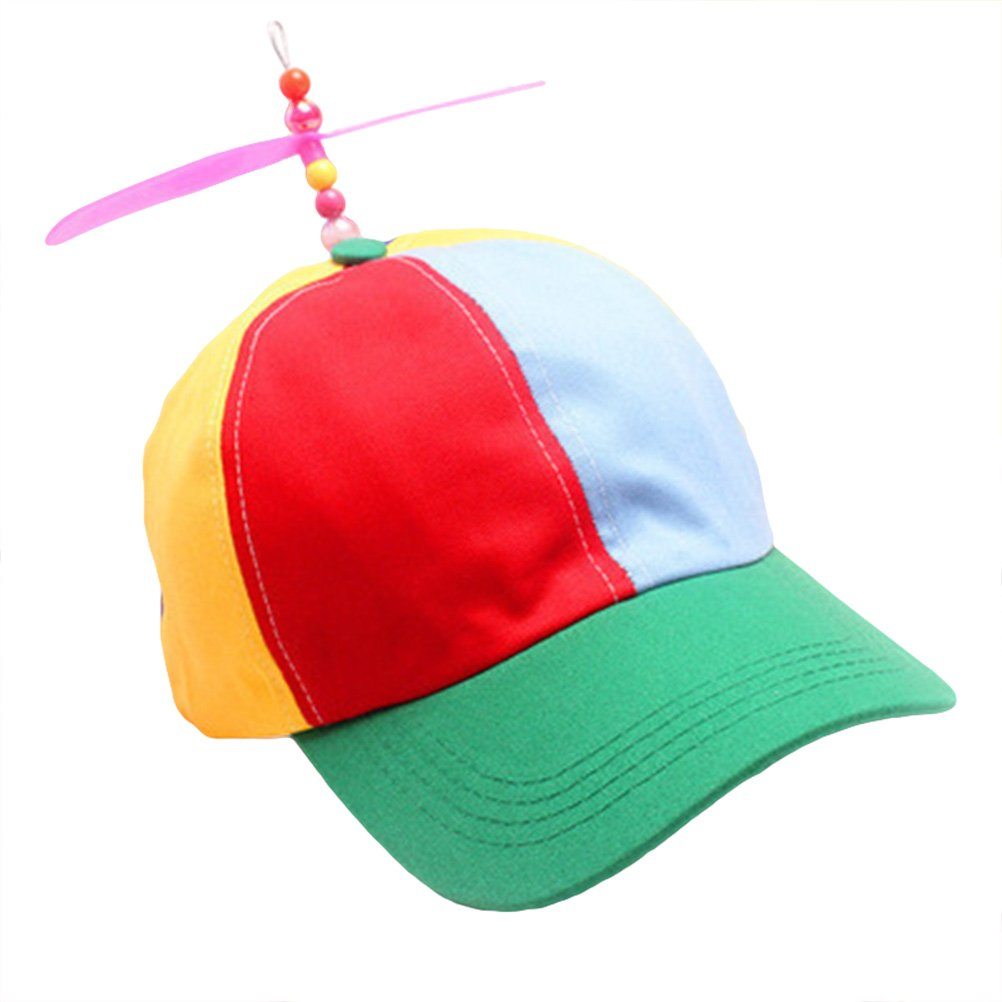 065475faa51 Get Quotations · Tinksky Adult Propeller Hat Colorful Patchwork Funny  Baseball Hats Propeller Bamboo Dragonfly Sun Hat Casquette Snapback