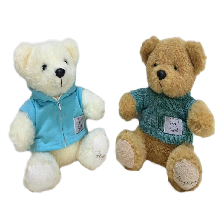 Lovely Designs Personalized Clothing Bear Popular Stuffed Soft Plush Toy