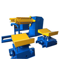 Wheels equipped sheet metal decoiler/uncoiler for press machine