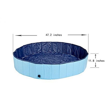 Durable Portable Pvc Outdoor Pet Folding Swimming Dog Pool