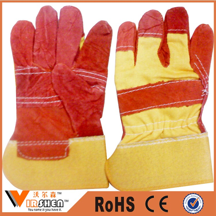Cow Split Leather Welding Gloves/high Quality Welding Gloves ...