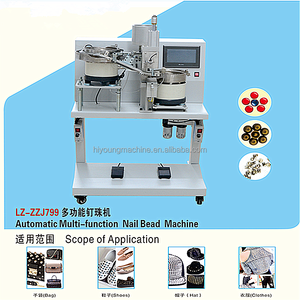Automatic snap button fixing machine