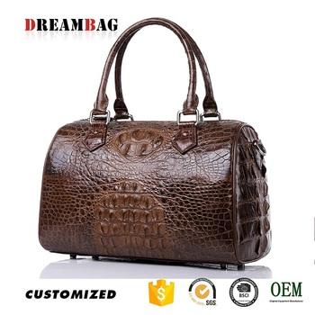 Custom Large Capacity Top Grade Genuine Crocodile Skin Handbags