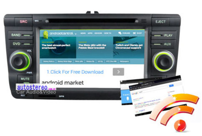 7 inch Android 4.0 Stereo for Skoda Octavia Laura Yeti car Radio GPS System car DVD entertainment Multimedia