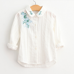 flower girl clothes embroidery shirts latest collection shirts for child