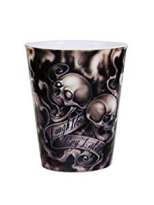 Buy Laugh Now Cry Later Skull Tattoo Style Plastic Shot Glass In