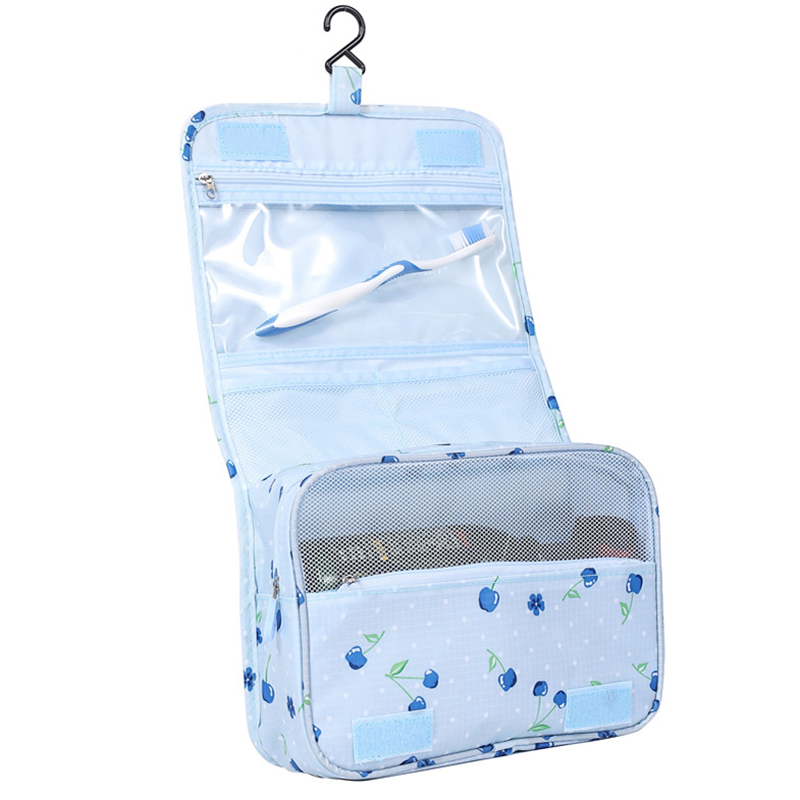 Wholesale Business Trip Toiletry Bags Cherry Print Cosmetic Toiletry Bag Hanging Travel