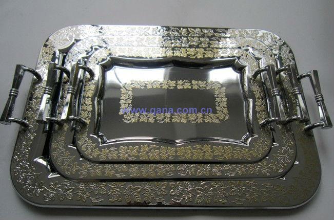 German Stainless Steel Tray With Elegant Patterns/japan Metal ...