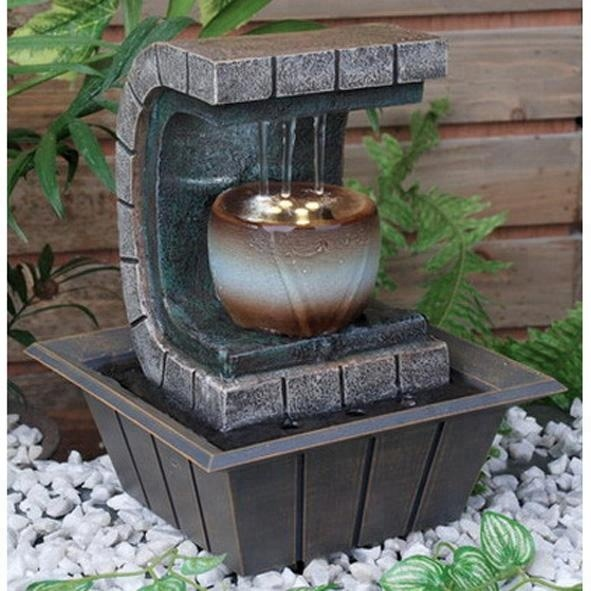 Fengshui Wealth Health Unique Indoor Table Top Polystone Water Fountain With Led Light For Home And Garden Decor Buy Decorative Indoor Water Wall Fountains Fengshui Table Water Fountain Decorative Outdoor Water Fountains Product