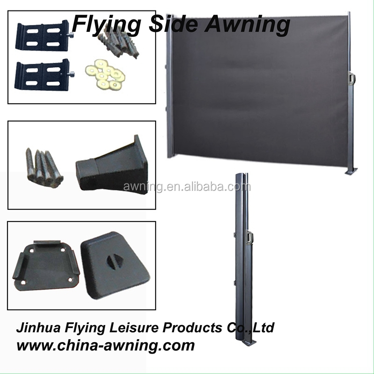 Modern outdoor poly carbonate penal aluminum side awning
