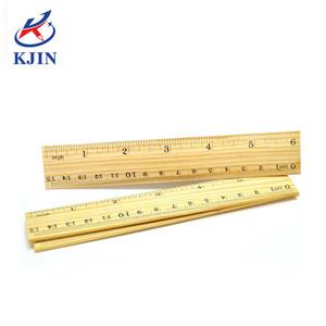 Promotional 15cm Short Measure Wooden Drawing Ruler For Kids