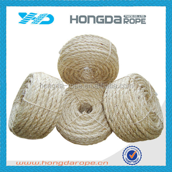 3 ply sisal twisted rope natural garden twine 9mm sisal rope untreated