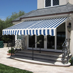 4x2.5m Retractable Striped Awning, Manual
