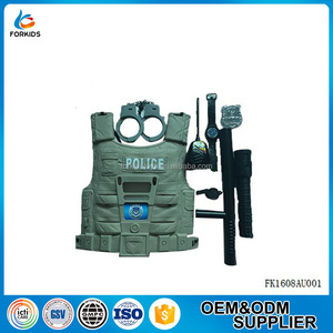 2016 NEW DESIGN 8PCS KIDS PLASTIC POLICEMAN UNIFORM PLASTIC PLAY TOOL TOY SET FOR EDUCATIONAL ROLE PLAY OR PRETEND PLAYTIME