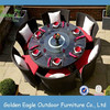 6 Seats Round Table wicker dining set