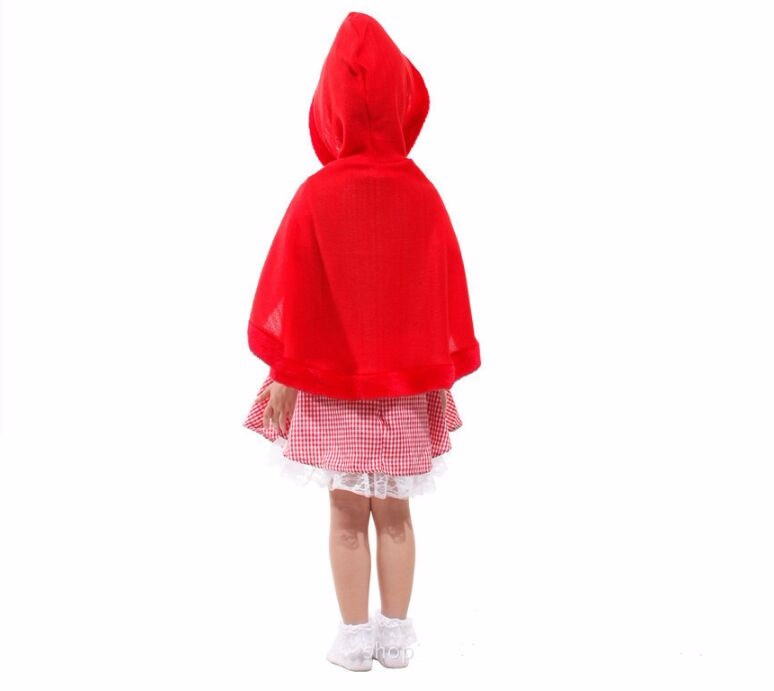 girls fairy tales clothes cute  suits female children halloween kids sexy fancy dress little red riding hood costume 4