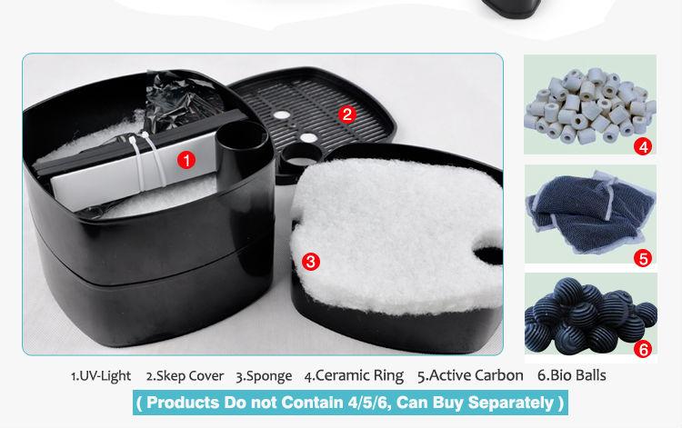 35w 1400l h sensen canister filter view sensen canister for Best pond filter setup