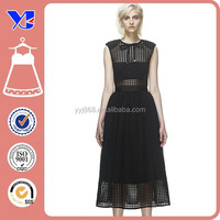 Manufacturer Elegant New York Women's Sleeveless Foiled Mesh Dress