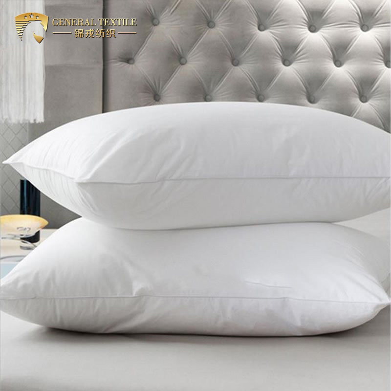 Hot Sale White Filling Microfiber 1200g Hotel Pillow
