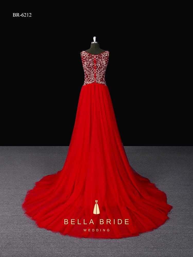 51a0617e0c50 Vestito lungo disegni abiti da sera rosso vestito in rilievo net frock  design elegante partito abito