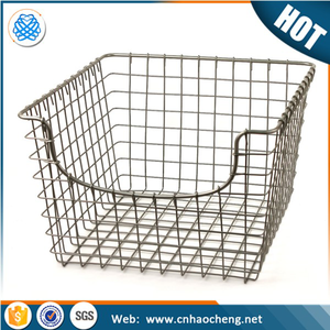 304 stainless steel wire mesh tall wire basket for bike