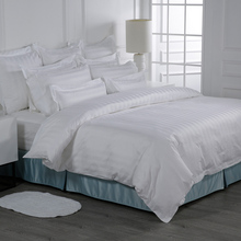 Putih Mewah Ukuran Queen 100% Cotton Bedding Set Sprei Hotel <span class=keywords><strong>Hilton</strong></span>
