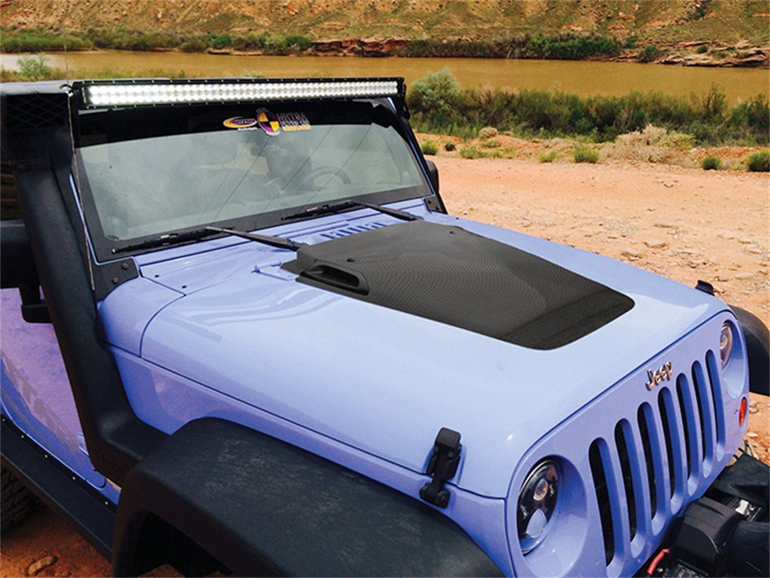 Jeep JK Wrangler Hood Wrangler Daystar fits 2007 to 2017 2//4WD stop hood flutter and keep your hood securely shut Made in America Red KJ09145RE