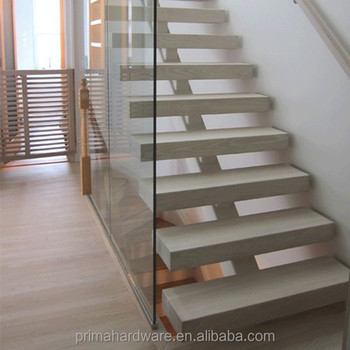 Fold Up Classic Oak Wooden Stairs Double Stringer Loft Stairs