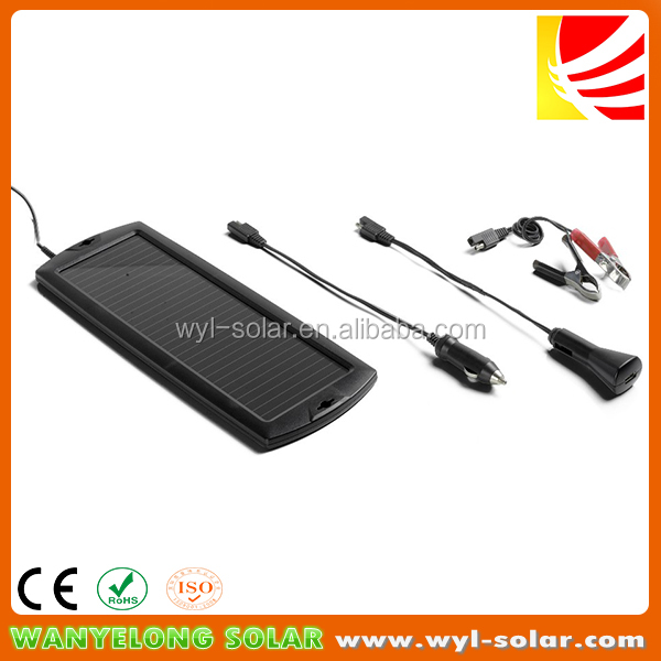 New 1.5W 12V Solar Power trickle charger for car and boating battery protection