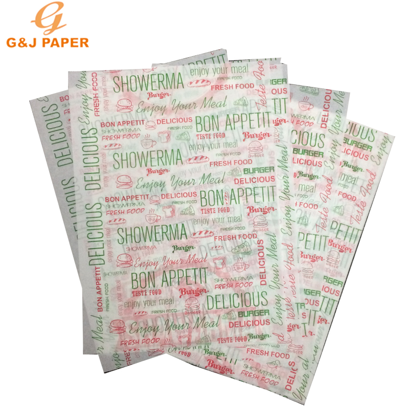 240*340mm Size Printing Doorschijnend Papier voor Brood Wikkelen