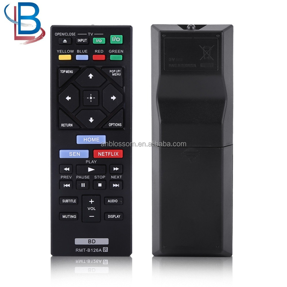 Tv Remote Control For Sony Tv Rmt-b126a Bdp-bx120/320/520 S2200 Blu-ray Dvd  Player Ct - Buy Tv Remote Control,Remote Control For Sony Tv,Rmt-b126a