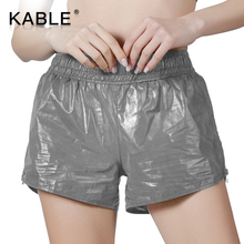 Elastische taille zilver groothandel booty scrunch oefening <span class=keywords><strong>shorts</strong></span> vrouwen