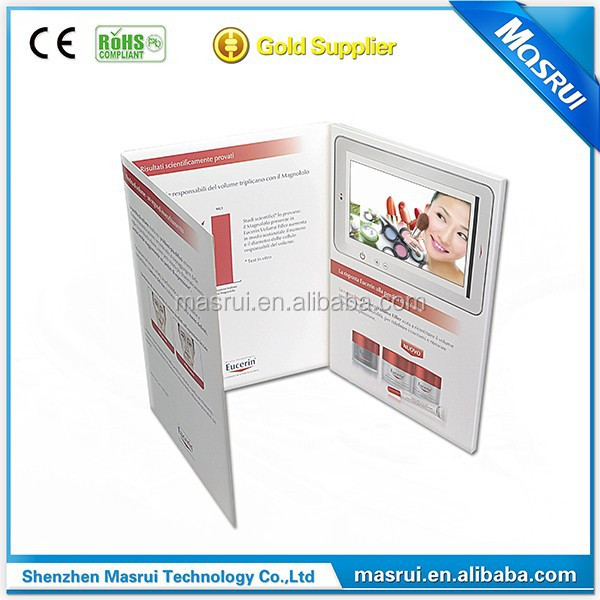 7 Inch Custom LCD TFT Screen Video Eid Greeting Card for Gift