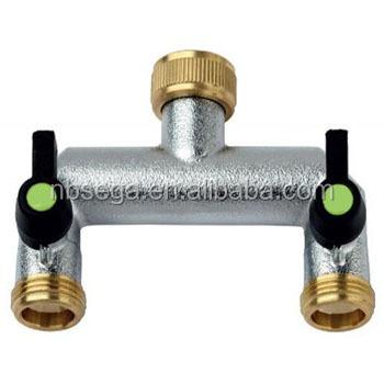 brass 2 way garden hose splitter buy 2 way garden hose. Black Bedroom Furniture Sets. Home Design Ideas