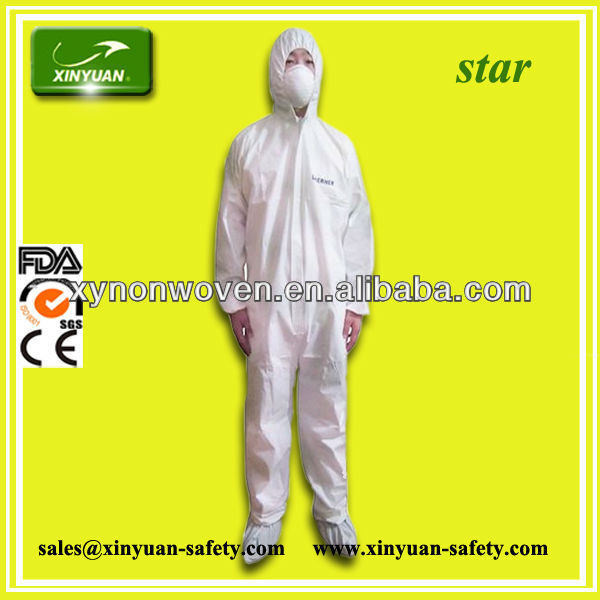 CE certified category III disposable TYPE 56 SMS Coverall