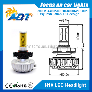 2015 new car bulb smart 4th generation High power 40W auto 12v car led headlight kit 80w 6000lm H4/9007/9004/H13/H7/H8/H9/H10