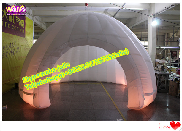 Lighting!!! event decoration inflatable tent/igloo dome A125